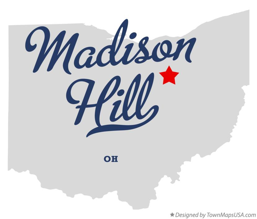Map of Madison Hill Ohio OH