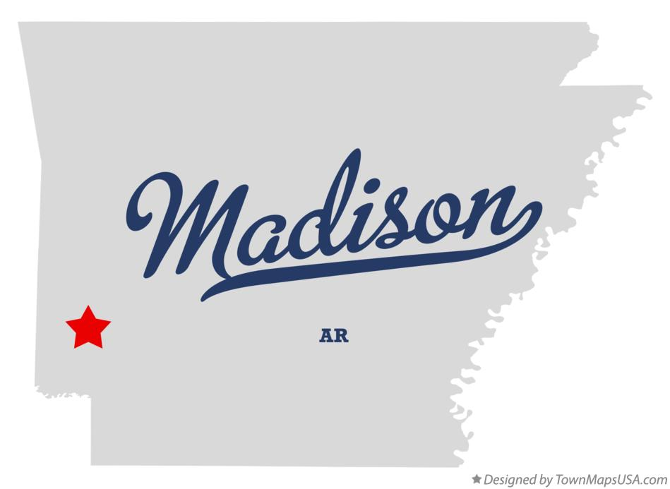 Map of Madison Arkansas AR