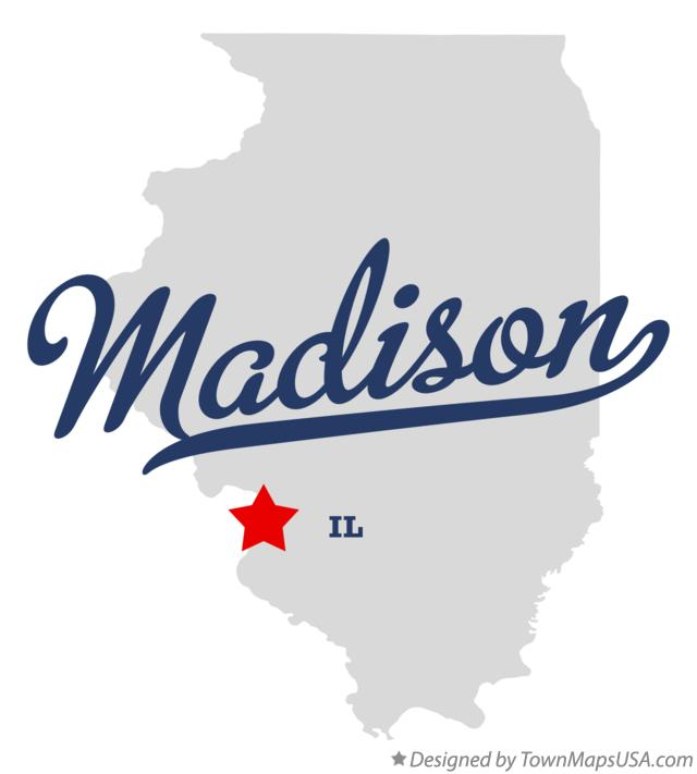 Map Of Madison Madison County Il Illinois