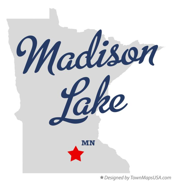 Map of Madison Lake Minnesota MN