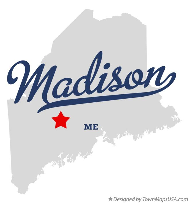 Map of Madison Maine ME