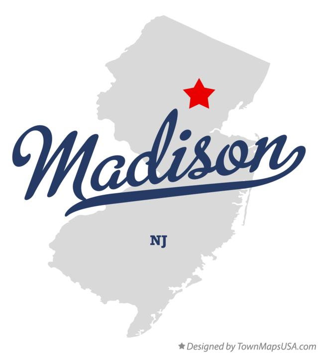 Map of Madison New Jersey NJ