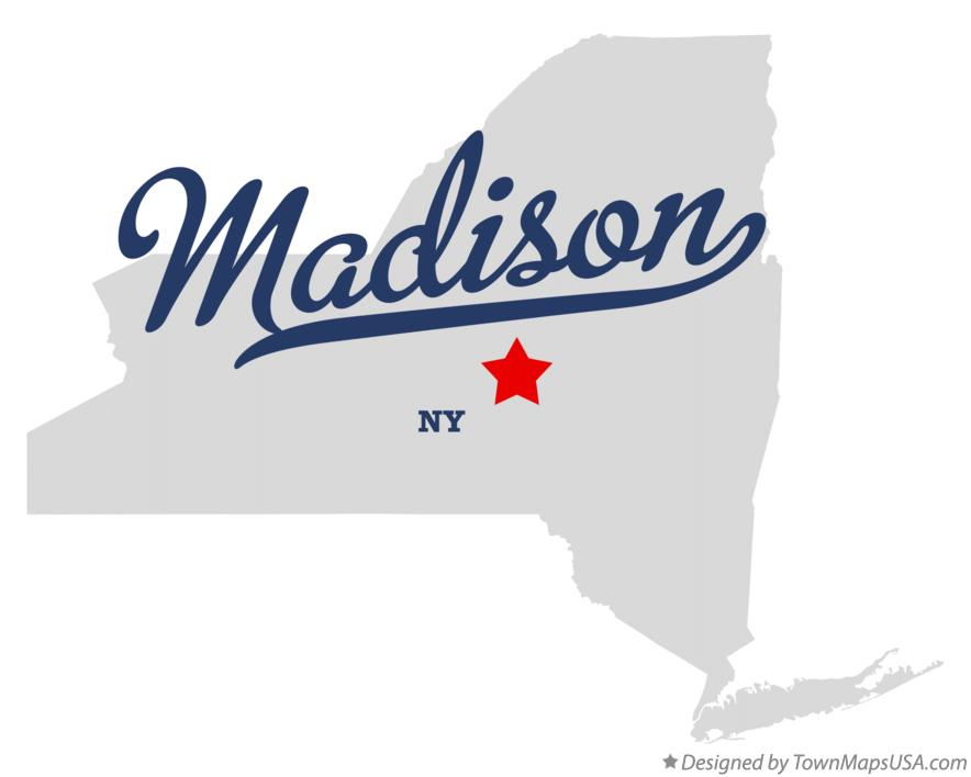 Map of Madison New York NY
