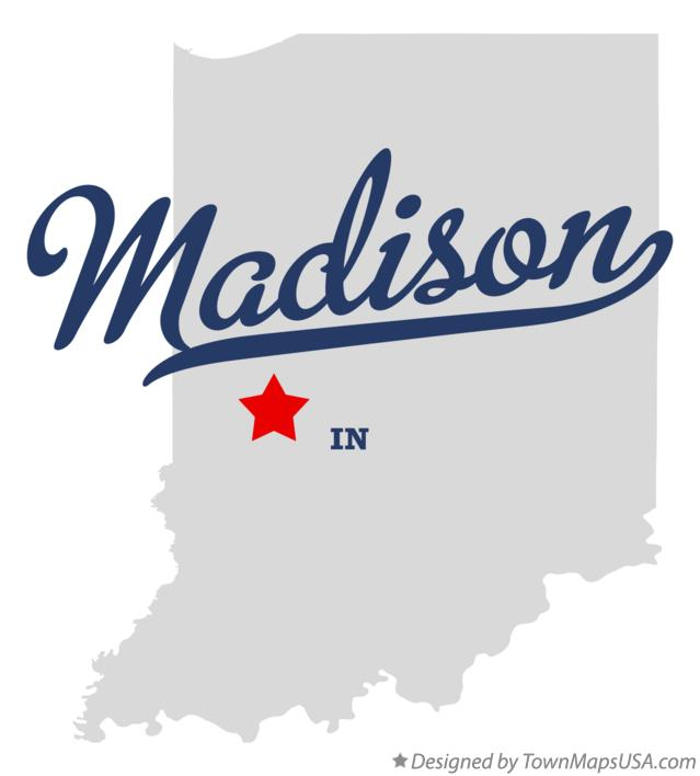 Map of Madison Indiana IN