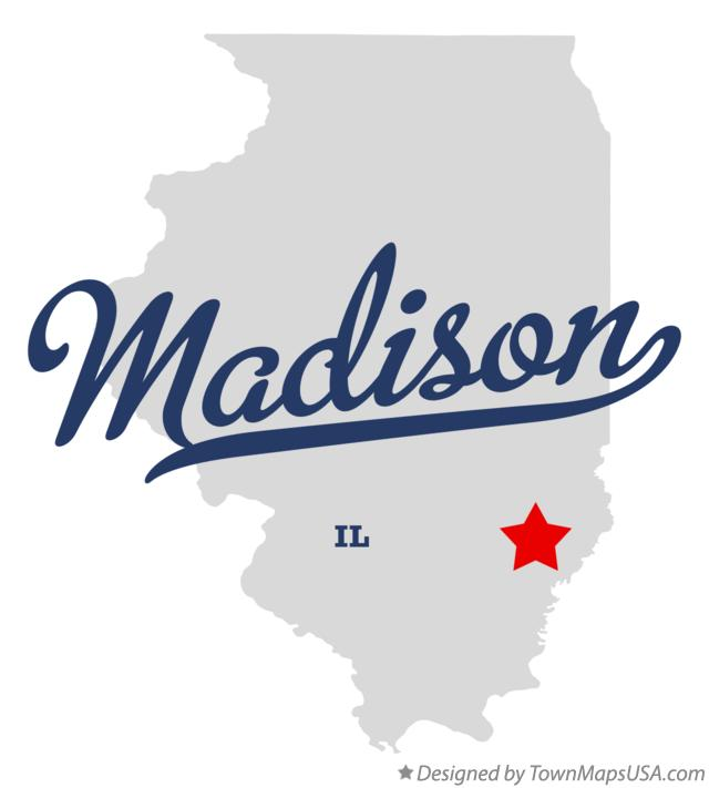 Map of Madison Illinois IL