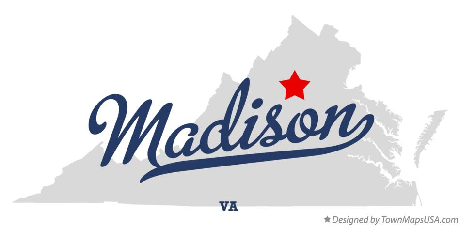 Map of Madison Virginia VA