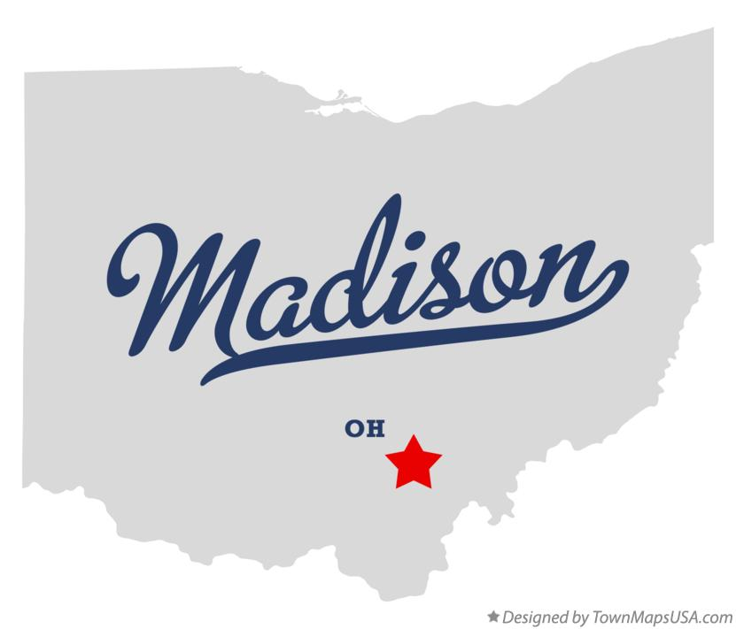 Map of Madison Ohio OH