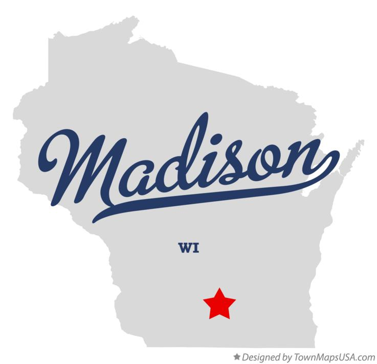 Map of Madison WI Wisconsin