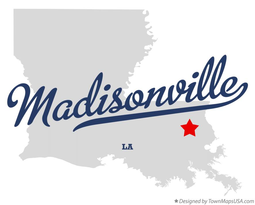 Map of Madisonville Louisiana LA