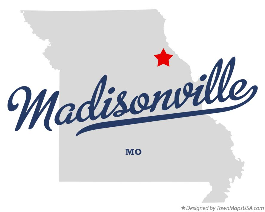 Map of Madisonville Missouri MO