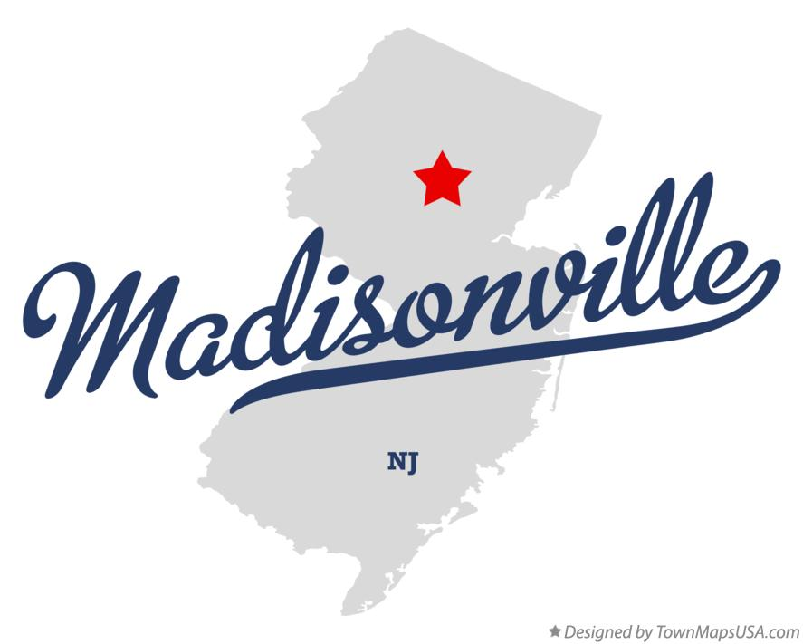 Map of Madisonville New Jersey NJ