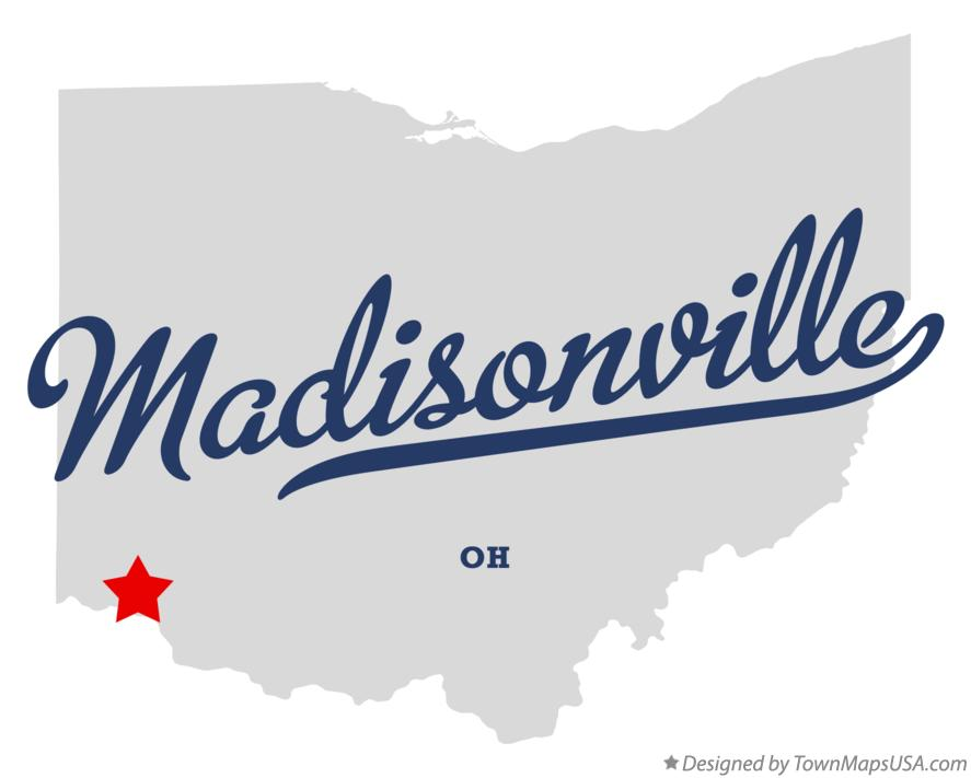 Map of Madisonville Ohio OH