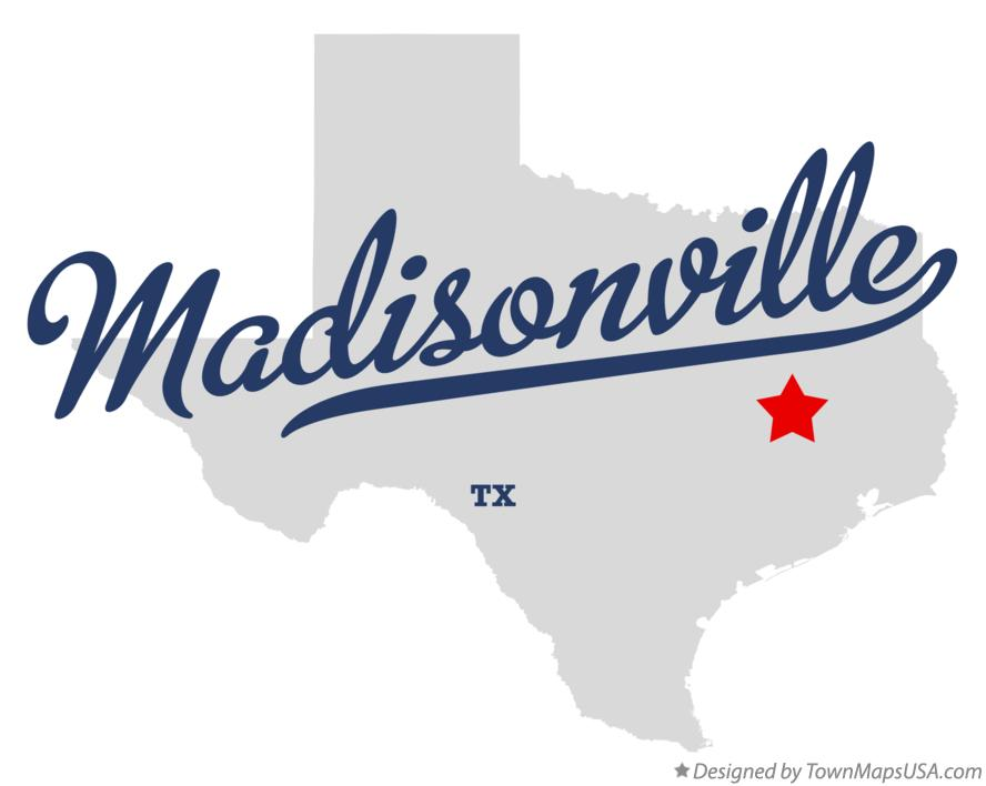 Map of Madisonville Texas TX