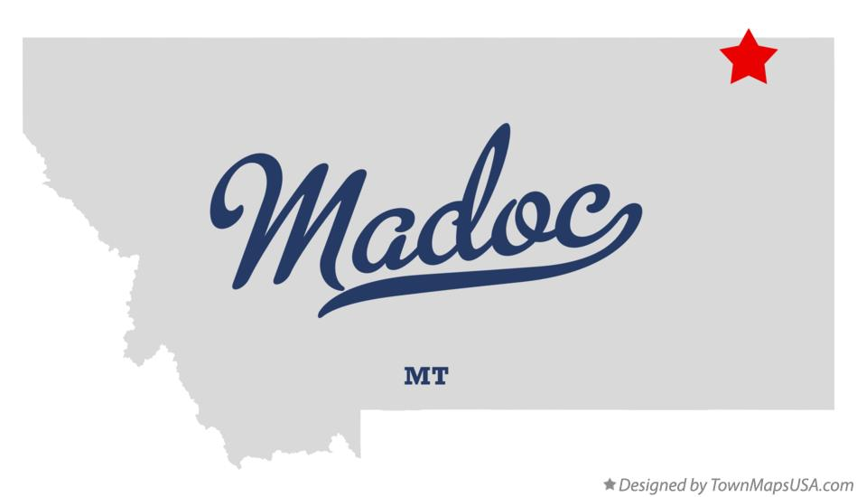 Map of Madoc Montana MT