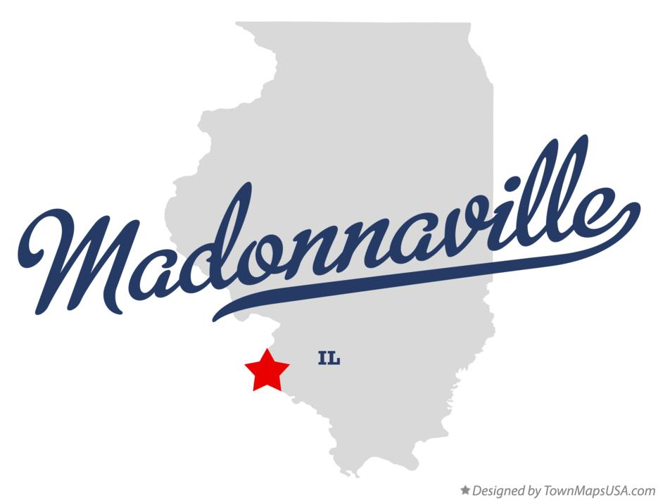 Map of Madonnaville Illinois IL
