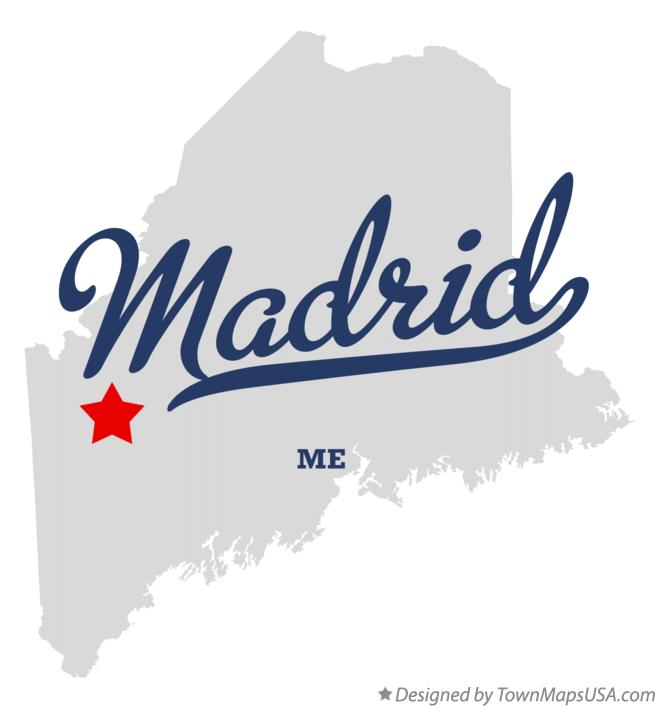 Map of Madrid Maine ME