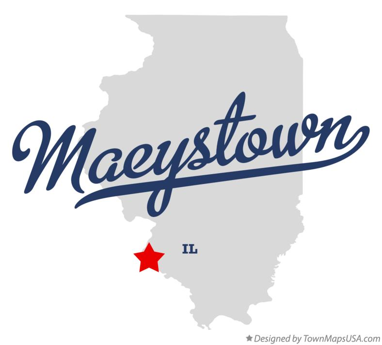 Map of Maeystown Illinois IL
