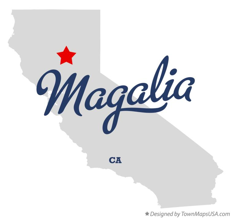 Map of Magalia California CA