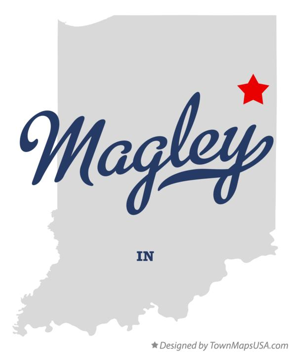 Map of Magley Indiana IN
