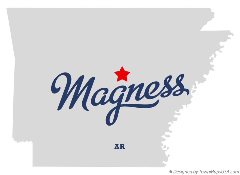 Map of Magness Arkansas AR