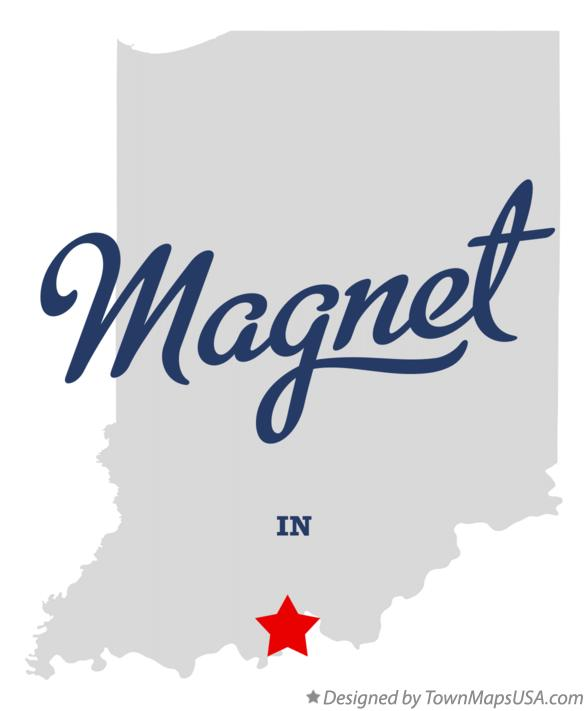 Map of Magnet Indiana IN