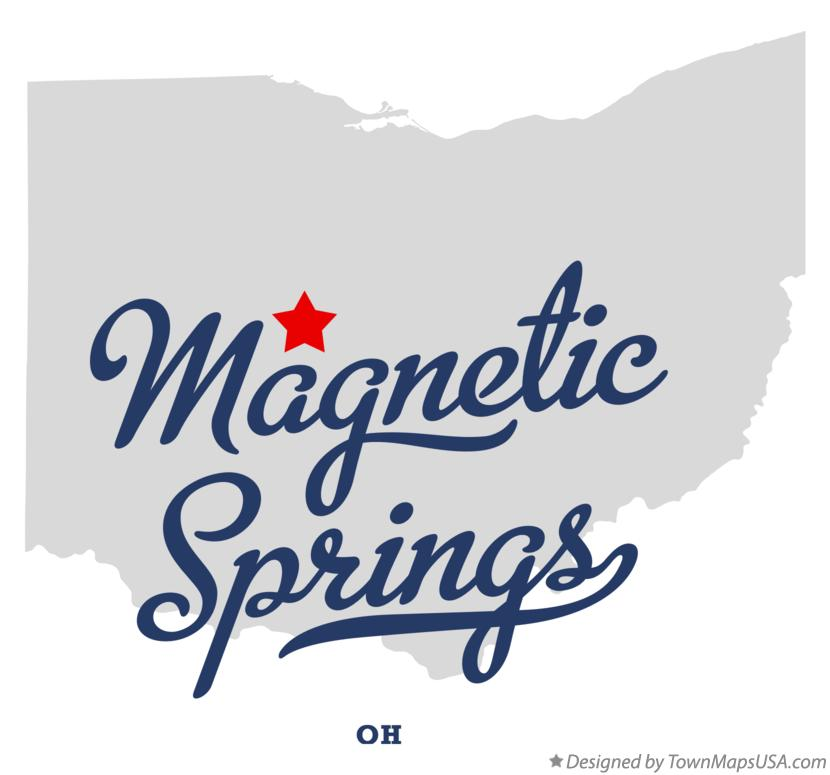 Map of Magnetic Springs Ohio OH