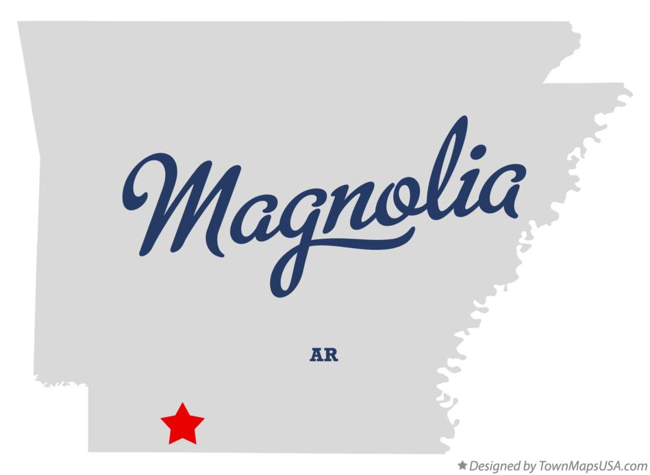 Map of Magnolia Arkansas AR