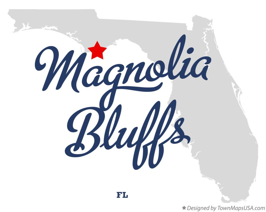 Map of Magnolia Bluffs Florida FL