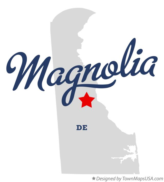 Map of Magnolia Delaware DE