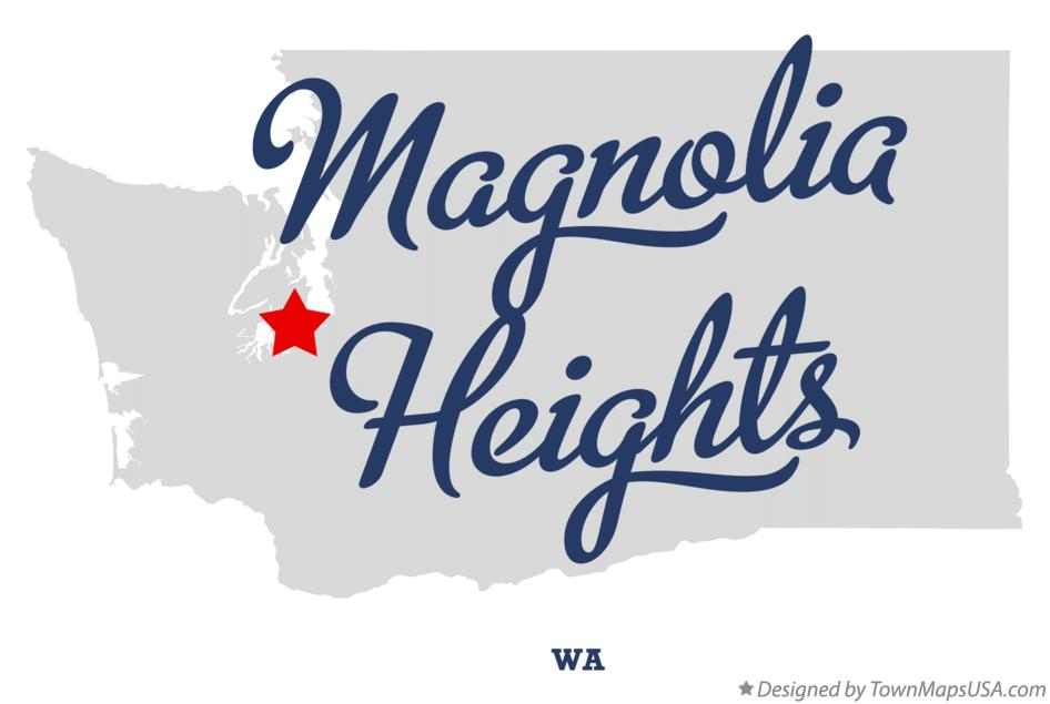 Map of Magnolia Heights Washington WA