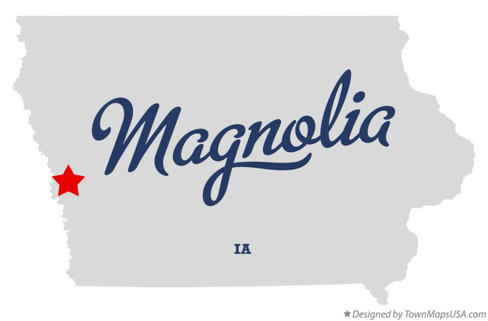 Map of Magnolia Iowa IA