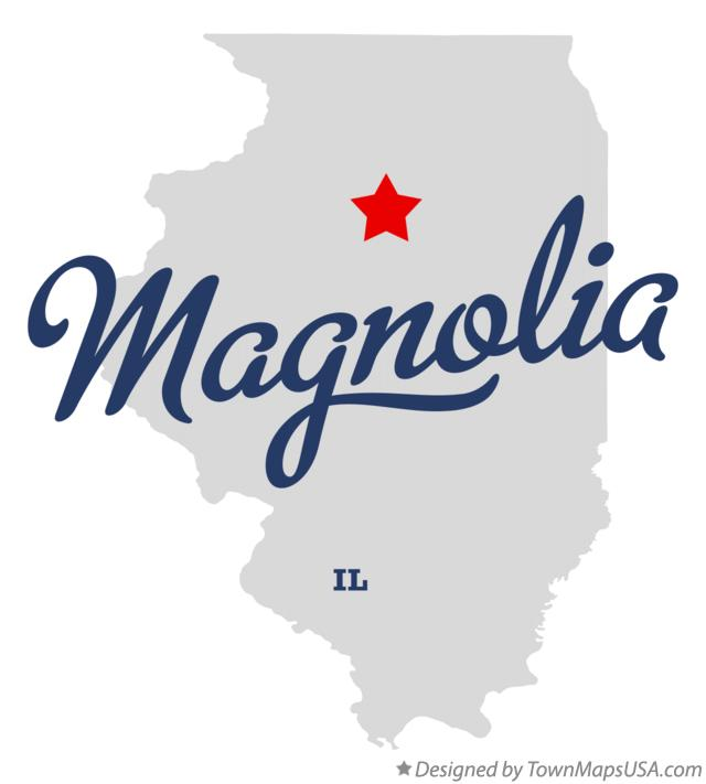 Map of Magnolia Illinois IL
