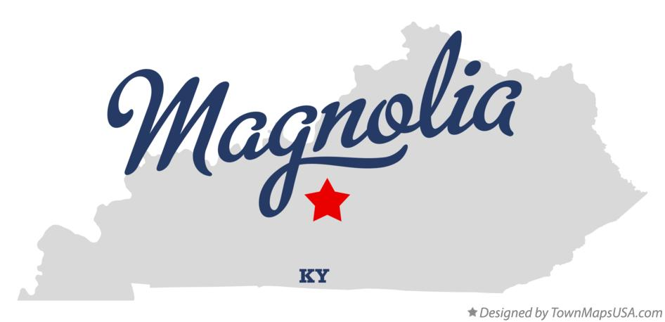 Map of Magnolia Kentucky KY
