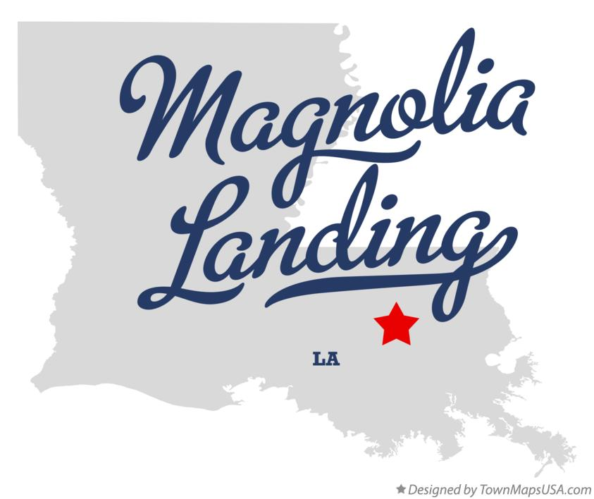 Map of Magnolia Landing Louisiana LA