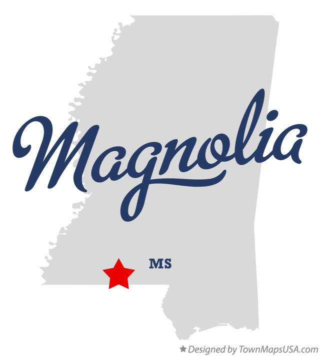 Map of Magnolia Mississippi MS