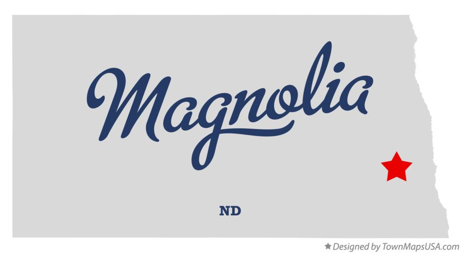Map of Magnolia North Dakota ND