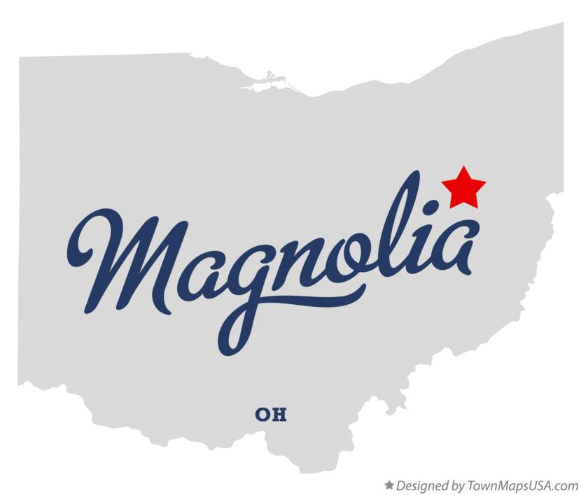 Map of Magnolia Ohio OH