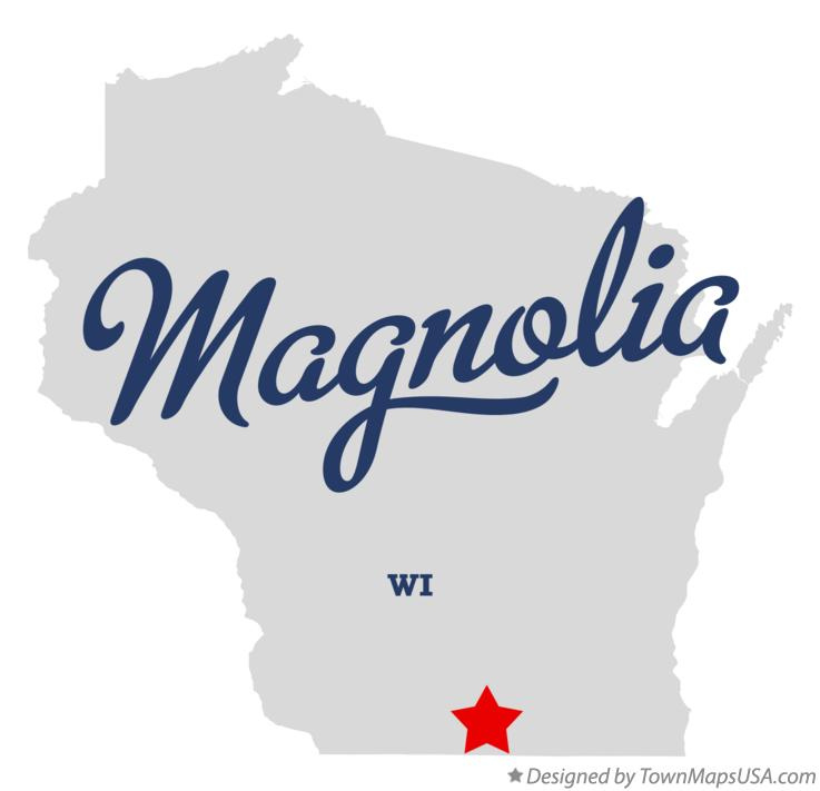 Map of Magnolia Wisconsin WI