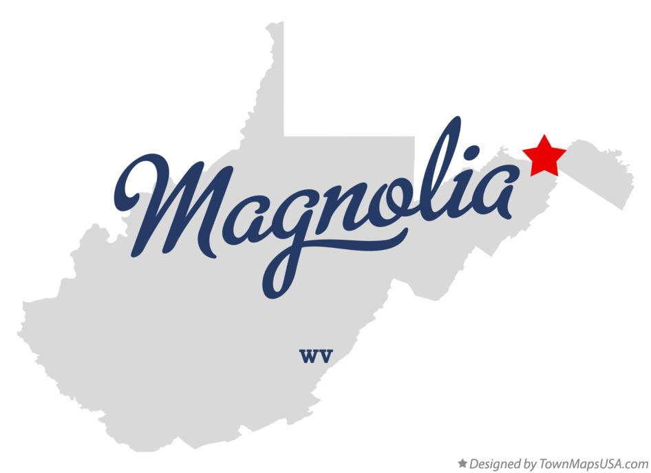 Map of Magnolia West Virginia WV