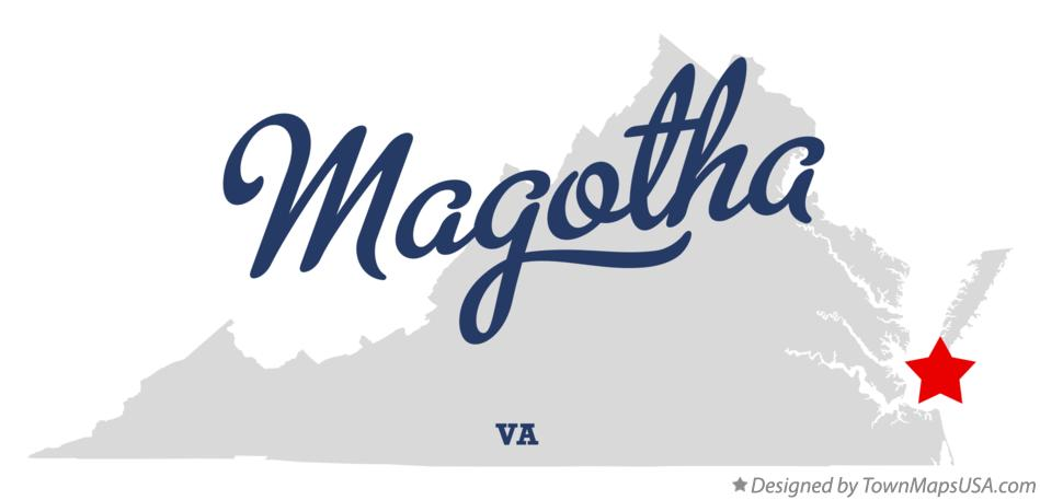 Map of Magotha Virginia VA