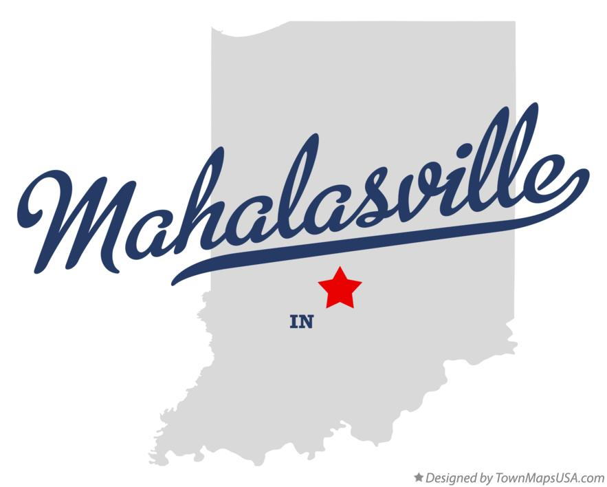 Map of Mahalasville Indiana IN