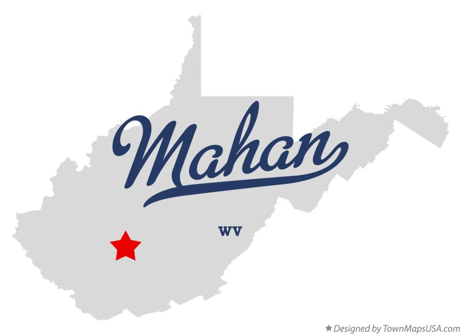 Map of Mahan West Virginia WV