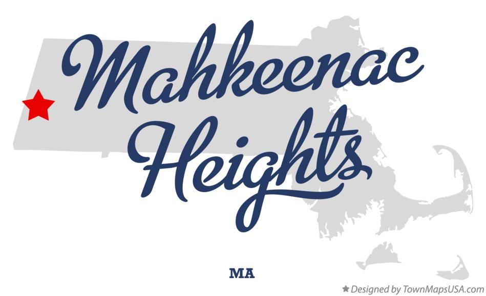 Map of Mahkeenac Heights Massachusetts MA