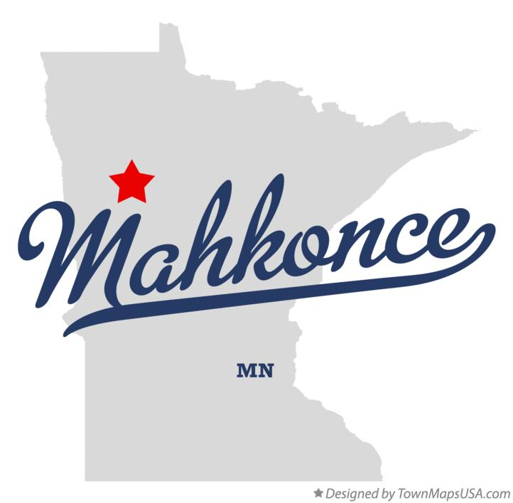 Map of Mahkonce Minnesota MN