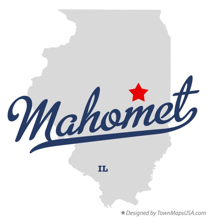 Map of Mahomet Illinois IL