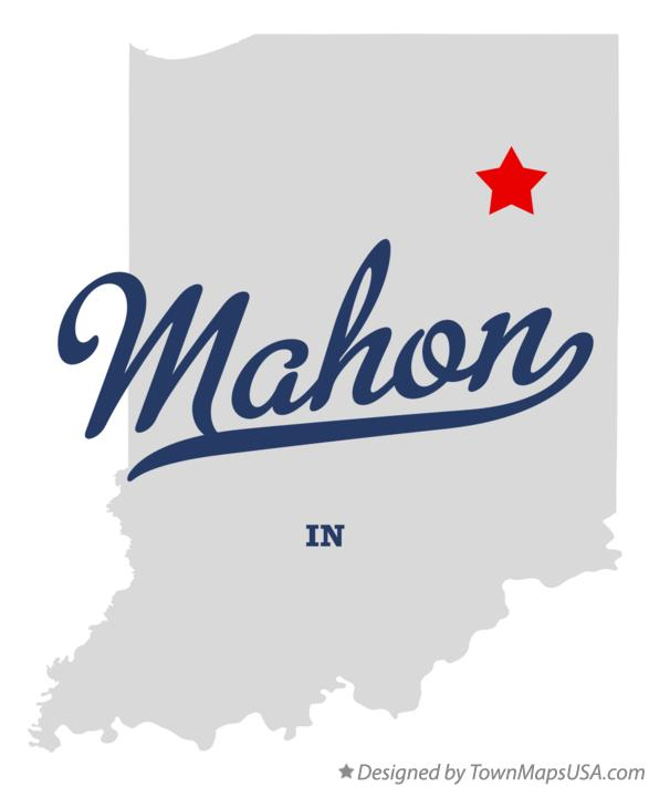 Map of Mahon Indiana IN