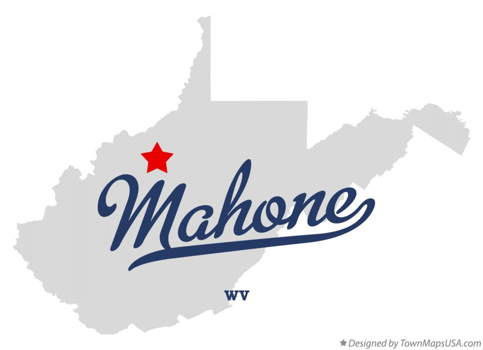 Map of Mahone West Virginia WV