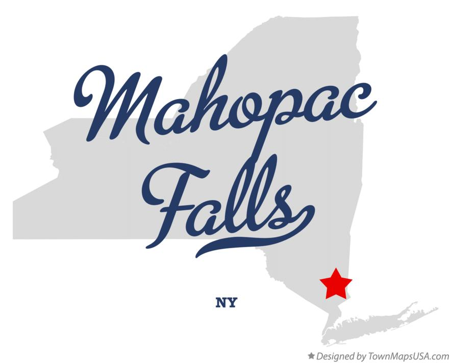 Map of Mahopac Falls New York NY