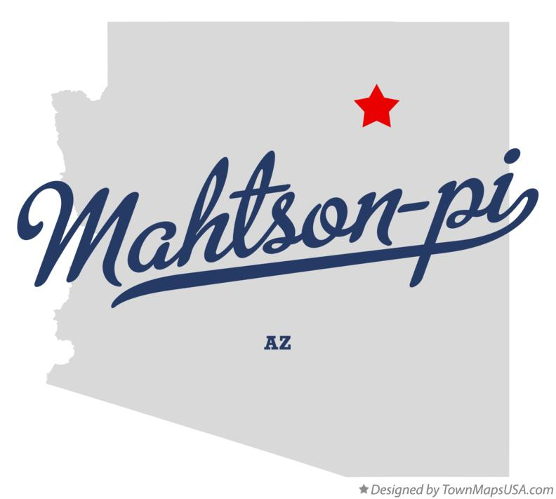 Map of Mahtson-pi Arizona AZ