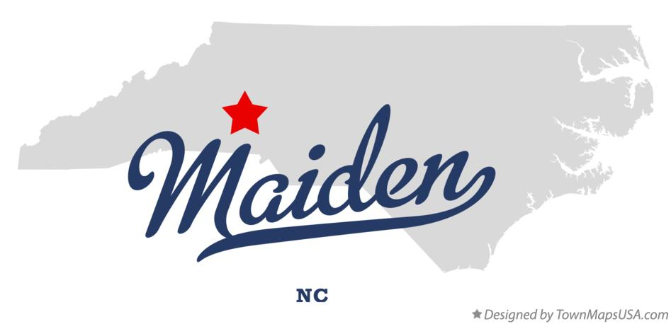 Map of Maiden North Carolina NC